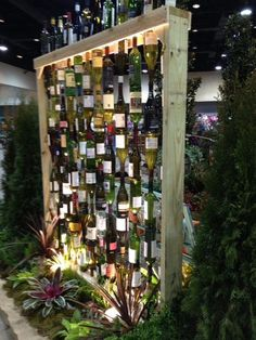 Garden wine bottle wall and more ideas with tips!