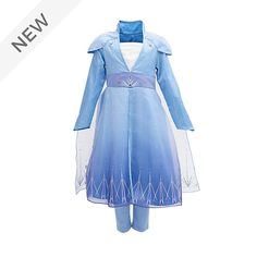 Your little Frozen fan is sure to look as enchanting as the snow queen herself in our Elsa costume! Featuring a metallic print, organza overlays, and embroidered details, the deluxe design wonderfully captures Elsa's travel outfit.