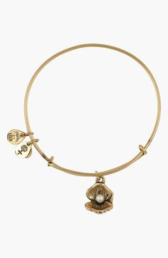 Alex and Ani 'Oyster' Charm Expandable Bangle available at #Nordstrom