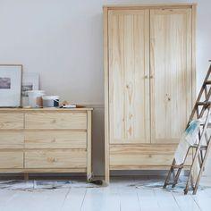 Commode 6 tiroirs en pin massif brut perrine La Redoute Interieurs | La Redoute
