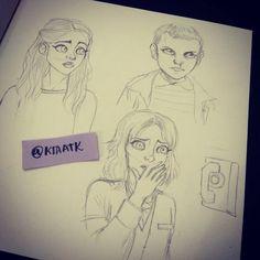 Stranger things doodles #strangerthings #nancy #eleven #joyce #doodle #ktaatk