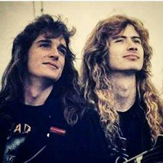 Dave Mustaine e David Ellefson Nick Menza, David Ellefson, Kerry King, Dave Mustaine, Heavy Metal Bands, Band Photos, Thrash Metal, Rock Legends, Metalhead