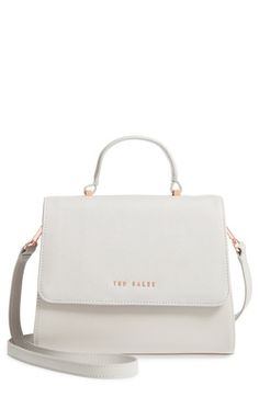 6b4480b16 TED BAKER SMALL HILARYY FAUX LEATHER SATCHEL - GREY.  tedbaker  bags   leather  hand bags  satchel  lining