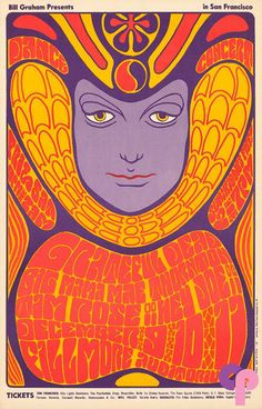 grateful dead at fillmore auditorium by wes wilson 1966
