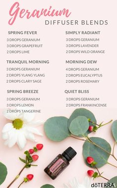 Essential oils with Geranium