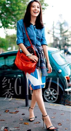 China Entertainment News aggregates the latest news shapping China's entertainment industry. Autumn Fashion 2018 Women, Gao Yuanyuan, Star Girl, Biker Girl, Daily Wear, Well Dressed, Asian Woman, Popular, Fashion Looks