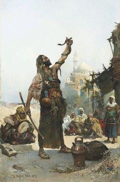 Charles Wilda (Austrian, 1854-1907) The snake charmer, 1883.