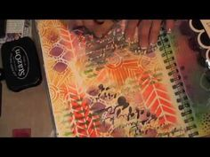 Mixed Media Friday Tutorial using the Crafter's Workshop Stencils