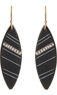 Monique Péan Buffalo Horn & Diamond Marquis Earrings #TZRbday