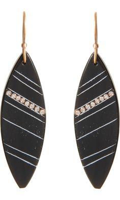 Monique Péan Buffalo Horn & Diamond Marquis Earrings #TZRbday