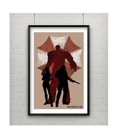 Resident Evil Poster 11x17 Video Game Art by CaptainsPrintShop, $20.00
