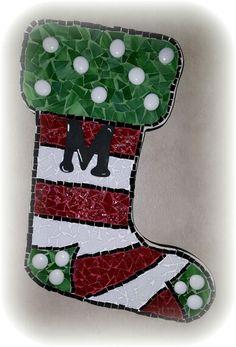 Mosaic christmas stocking