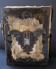 Front cover of steampunk journal. This is sooo cool to me. I want to write in it.
