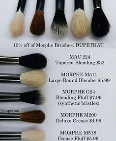 "6,433 Likes, 129 Comments - DUPETHAT (@dupethat) on Instagram: ""While the @morphebrushes M511 is definitely the closest dupe for the @maccosmetics 224, here's a…"""