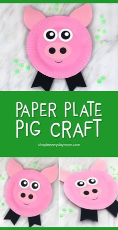 Pig Craft For Kids make this easy DIY pig from a paper plate printables and paint kidsactivities kidscrafts craftsforkids kidsandparenting artprojects farmcrafts pigcrafts preschool kindergarten elementary ece teacher Farm Animal Crafts, Pig Crafts, Farm Crafts, Animal Crafts For Kids, Easy Crafts For Kids, Toddler Crafts, Art For Kids, Bone Crafts, Dinosaur Crafts