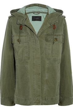 J.Crew Hooded cotton-twill jacket NET-A-PORTER.COM