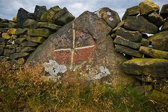 Boundary stone, Royd Moor, Yorkshire