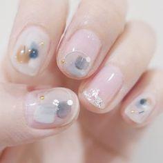 ラフ - 芳仲栄子, atelier+LIM | 2018.5 | ネイル デザイン Beauty Nails, Beauty Makeup, Hair And Nails, My Nails, Super Cute Nails, Crazy Nails, Bridal Nails, Gel Nail Designs, Stylish Nails