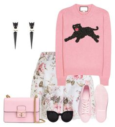"""""""Roarrrr....;))"""" by pinkmode ❤ liked on Polyvore featuring Zimmermann, Dolce&Gabbana, Gucci, ASOS and Alexis Bittar"""