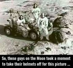 No, These guys were testing the lunar rover prototype on earth in Arizona. Note the rubber tractor tires.