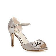 f4fc6c4da0 Debut - Silver gathered floral stone high court shoes Silver Shoes, Court  Shoes, Ankle