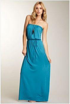 Loveappella strapless maxi dress