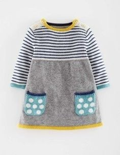 60 Ideas knitting patterns free baby girl dress sweets 60 Ideas knitting patterns free baby girl dress sweets Image Size: 257 x. Knit Baby Dress, Knitted Baby Clothes, Knit Sweater Dress, Baby Knitting Patterns, Knitting For Kids, Knitting Projects, Free Knitting, Baby Outfits, Baby Girl Dresses