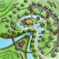 What Is Landscape Architecture, Landscape Model, Landscape And Urbanism, Park Landscape, Architecture Graphics, Landscape Plans, Urban Landscape, Landscape Design, Urban Design Concept