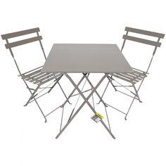 Folding Square Mocha Bistro Set #MainBedroomBalcony
