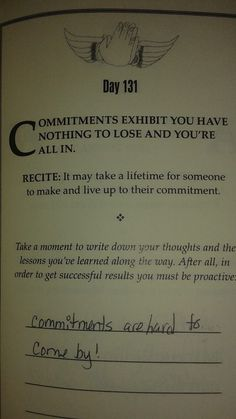 Did you know commitments is a sign of strength and dedication? Yes, it shows others you're not afraid and you're able to handle the foreseen and unforeseen.   If you like to see more of this visit www.motivationalmary.com or Amazon http://www.amazon.com/Motivation-Serenity-Gratitude-Become-Better/dp/1489701745  to purchase your copy of Motivation Serenity Gratitude.