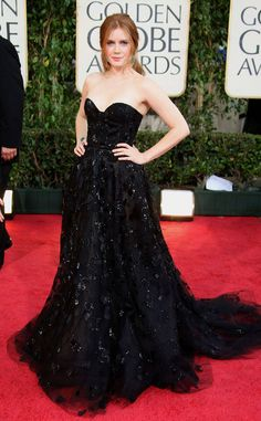 Amy Adams from Oscar de la Renta's Top Red Carpet Looks  For big events, Amy often opted for Oscar. Such was the case at the 2009 Golden Globes.