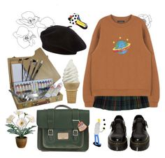 """""""30"""" by ourijimin ❤ liked on Polyvore featuring Jones New York, Gerber and Dr. Martens"""