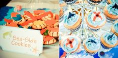 """Life savers"""" cupcake toppers were made by dipping jelly rings in white chocolate. Once cooled, strips were cut from fruit roll up candy and wrapped around the ring."""