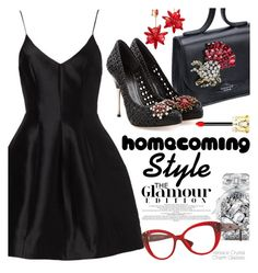"""Homecoming Style"" by smartbuyglasses-uk ❤ liked on Polyvore featuring Victoria's Secret, Rochas, Christian Louboutin, Alexander McQueen, Versace, Kate Spade and Homecoming"