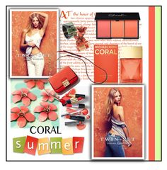 """Corals"" by ana-angela ❤ liked on Polyvore featuring косметика, Clips, Michael Kors и coolcorals"