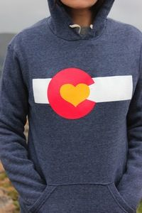 BOUGHT THIS (well i actually got the t-shirt instead) Image of Colorado Love Pullover Hoodie-Navy (i need this)
