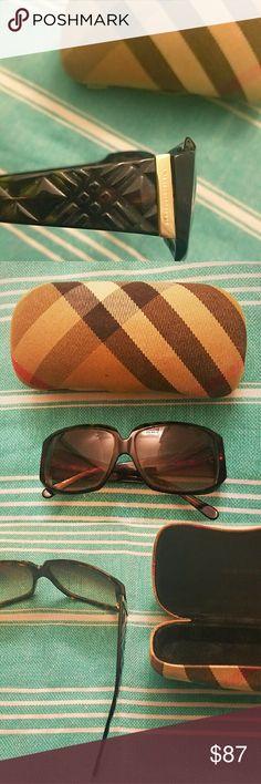 7781b3de435b Burberry Sunglasses Tortoise and gold Burberry sunglasses w plaid case Burberry  Accessories Sunglasses Burberry Sunglasses