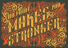 Do What Makes You Stronger - T-shirt design from TOOLKIT.