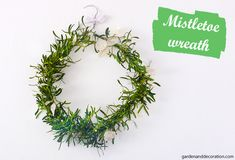 Here is a lovely handmade alternative for a winter wreath made with mistletoe and beads. Great for your home and for outdoor decoration. Some Ideas, Mistletoe, How To Make Wreaths, Dried Flowers, Green Colors, Flower Arrangements, Handmade, Diy, Flower Preservation