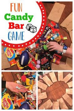 Fun Candy Bar Game This fun and simple candy bar game is the perfect addition to any party. It's such a fun party game, you and your guests will love to play. Teenage Party Games, Teenage Parties, Family Party Games, Fun Party Games, Birthday Party Games, Family Game Night, Party Ideas, Game Ideas, Teen Games
