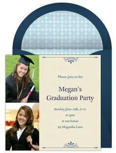 Graduation photo invitations are a modern and personal way to make your graduate's celebration memorable