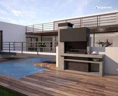 Discover recipes, home ideas, style inspiration and other ideas to try. Design Barbecue, Parrilla Exterior, Resin Wicker Patio Furniture, Country Patio, Brick Bbq, Concrete Interiors, Outdoor Stone, Bbq Grill, Grill Barbecue