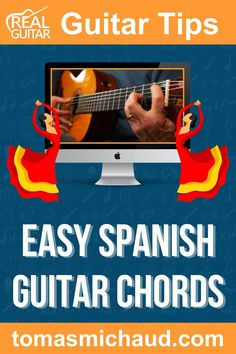 In this guitar lesson, you are going to learn a Spanish style chord progression. This chord progression is so common in Flamenco music that it has its own name, The Andalusian Cadence. The Spanish guitar chord progression can be played in any key, but I'll teach you in the key of Dm. The main chord progression only 4 chords, but it's the order of the chords that give this progression a beautiful sound. I will also show you a fingerpicking pattern and Flamenco strum pattern. Play Guitar Chords, Learn Acoustic Guitar, Learn To Play Guitar, Flamenco Guitar Lessons, Guitar Chord Progressions, Guitar Online, Guitar Lessons For Beginners, Guitar Tutorial, Guitar Tips
