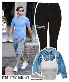 """""""Petit Tresor with Niall"""" by lottieaf ❤ liked on Polyvore featuring Topshop, Levi's, NIKE, adidas Golf, OneDirection and NiallHoran"""