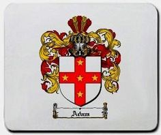 Adam Family Shield / Coat of Arms Mouse Pad