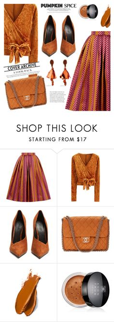 """Monochrome: Pumpkin Spice 3"" by jan31 ❤ liked on Polyvore featuring House of Holland, WithChic, Balmain, Chanel, Avon and Oscar de la Renta"