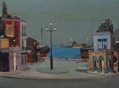 Ο Σπύρος Βασιλείου (Γαλαξίδι 1903 – Αθήνα 1985) ήταν ένας από τους σημαντικότερους Έλληνες ζωγράφους του εικοστού αιώνα .-THE HARBOUR 1971