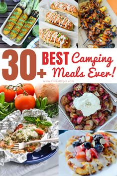 Best Camping Meals Ever! Who doesn't love camping and adventure? There are so many great things about camping, and cooking over a fire or grill is definitely one of them. meals easy 30 of the easiest and best camping meals ever! Camping Lunches, Best Camping Meals, Camping Dishes, Backpacking Food, Family Camping, Camping Ideas, Camping Recipes, Camping Hacks, Camping Foods
