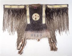 Man's Shirt Northern Tsisistas/Suhtai (Cheyenne), 1855-1865 The National Museum of The American Indian