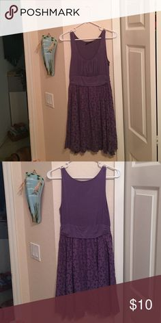 Purple floral lace dress Soft stretchy material with a lace flora skirt Soprano Dresses Midi